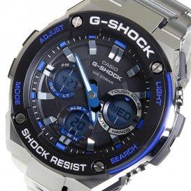 カシオ Gショック Gスチール クオーツ メンズ 腕時計 GST-S100D-1A2 ブラック