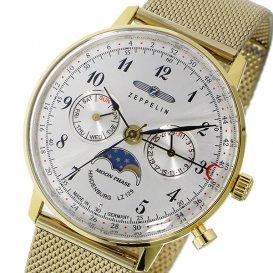 ツェッペリン ZEPPELIN ヒンデンブルク クオーツ ユニセックス 腕時計 7039M-1 シルバー/ゴールド