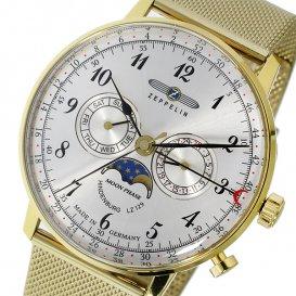 ツェッペリン ZEPPELIN ヒンデンブルク クオーツ メンズ 腕時計 7038M-1 シルバー/ゴールド