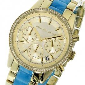 マイケルコース MICHAEL KORS クロノ クオーツ レディース 腕時計 MK6328 ゴールド