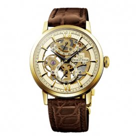 オリエント オリエントスター スケルトン 手巻き メンズ 腕時計 WZ0031DX シャンパンゴールド 国内正規