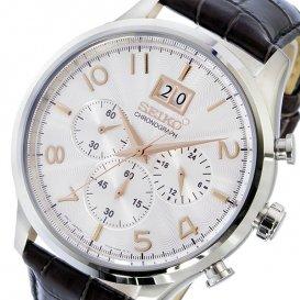 セイコー SEIKO クロノ クオーツ メンズ 腕時計 SPC087P1 シルバー