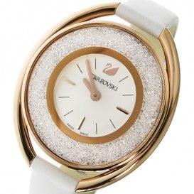 スワロフスキー SWAROVSKI クリスタルライン・オーバル クオーツ レディース 腕時計 5230946 ホワイト