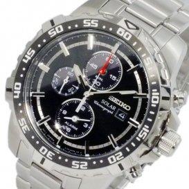 セイコー SEIKO ソーラー SOLAR アラーム クロノ メンズ 腕時計 SSC299P1