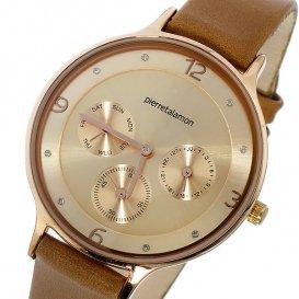 ピエールタラモン PIERRETALAMON クオーツ ユニセックス 腕時計 PT-1500L-2 ピンクゴールド