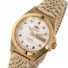 オリエント ORIENT スリースターズ 自動巻き レディース 腕時計 WV2411NQ ホワイト/ピンクゴールド