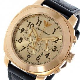 エンポリオ アルマーニ EMPORIO ARMANI クオーツ クロノ メンズ 腕時計 AR6087 ピンクゴールド