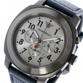 エンポリオ アルマーニ EMPORIO ARMANI クオーツ クロノ メンズ 腕時計 AR6086 ガンメタ