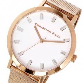 クリスチャンポール CHRISTIAN PAUL 43mm WHITEHAVEN LUXE MESH ユニセックス 腕時計 SWM-02 ホワイト
