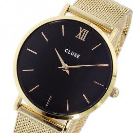 クルース CLUSE ミニュイ メッシュベルト 33mm レディース 腕時計 CL30012 ブラック/ゴールド
