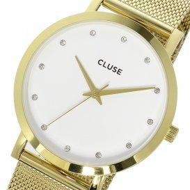 クルース CLUSE ラ・ボエーム メッシュベルト 38mm レディース 腕時計 CL18302 ホワイト/ゴールド