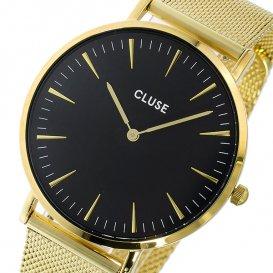 クルース CLUSE ラ・ボエーム メッシュベルト 38mm レディース 腕時計 CL18110 ブラック/ゴールド