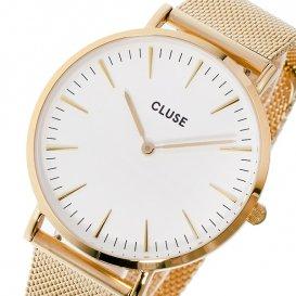 クルース CLUSE ラ・ボエーム メッシュベルト 38mm レディース 腕時計 CL18112 ホワイト/ローズゴールド