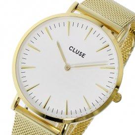 クルース CLUSE ラ・ボエーム メッシュベルト 38mm レディース 腕時計 CL18109 ホワイト/ゴールド