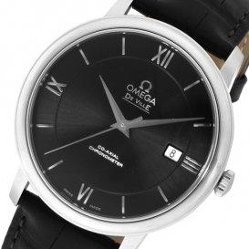 オメガ デ・ビル 自動巻き メンズ 腕時計 42413402001001 ブラック