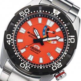 オリエント M-FORCE 200m 自動巻き メンズ 腕時計 SEL0A003M0(WV0201EL) オレンジ