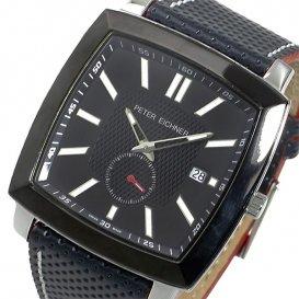 ピーターアイシュナー メンズ 希少 スイスメイド 腕時計 PE-303M-BK2 ブラック