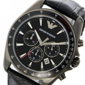 エンポリオ アルマーニ EMPORIO ARMANI シグマ Sigma クオーツ クロノ メンズ 腕時計 AR6097 ブラック