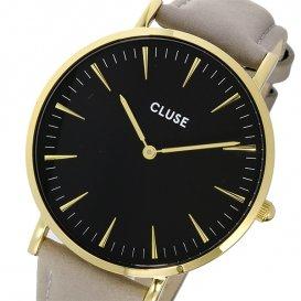 クルース CLUSE ラ・ボエーム レザーベルト 38mm レディース 腕時計 CL18411 ブラック/グレー
