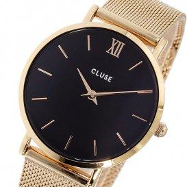 クルース CLUSE ミニュイ メッシュベルト 33mm レディース 腕時計 CL30016 ローズゴールド/ブラック