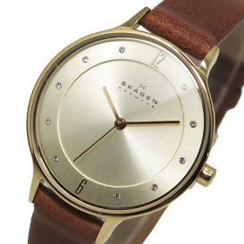 スカーゲン SKAGEN クオーツ レディース 腕時計 SKW2147 シャンパンゴールド