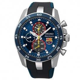セイコー SEIKO アラーム クロノ FCバルセロナコラボモデル メンズ 腕時計 SPC089P2 ブルー