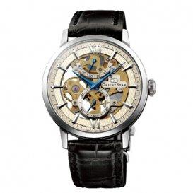 オリエント オリエントスター スケルトン 手巻き メンズ 腕時計 WZ0041DX アンティークシルバー 国内正規
