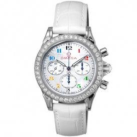 オメガ OMEGA デ・ビル オリンピックコレクション クロノ 自動巻き レディース 腕時計 4876.70.36