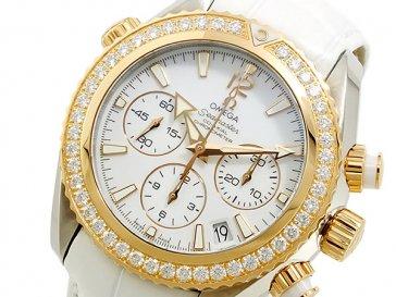 オメガ OMEGA シーマスター 自動巻 レディース クロノ 腕時計 22228385004001