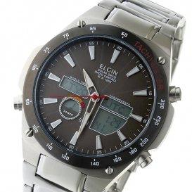エルジン ELGIN 電波 ソーラー メンズ 腕時計 FK1416S-BP グレー