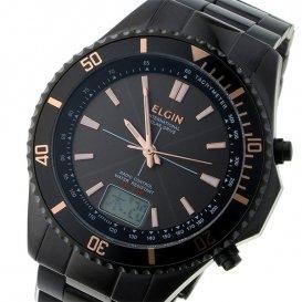 エルジン ELGIN 電波 ソーラー メンズ 腕時計 FK1415B-BP グレー