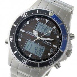 エルジン ELGIN 電波 ソーラー メンズ 腕時計 FK1414S-BP グレー