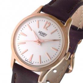 ヘンリーロンドン HENRY LONDON リッチモンド RICHMOND 25mm レディース 腕時計 HL25-S-0184 ホワイト/ダークブラ…