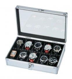 時計ケース アルミ製 時計10本収納 SE-54020AL