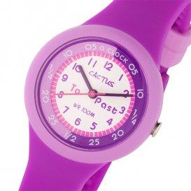 カクタス CACTUS キッズウォッチ 腕時計 CAC-92-M09 ホワイト/パープル