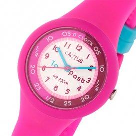 カクタス CACTUS キッズウォッチ 腕時計 CAC-92-M55 ホワイト/ピンク