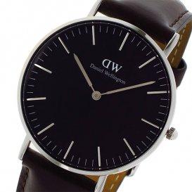 ダニエル ウェリントン クラシック ブラック ブリストル/シルバー 36mm ユニセックス 腕時計 DW00100143