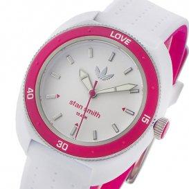 アディダス スタンスミス クオーツ レディース 腕時計 ADH3188 ホワイト/ピンク