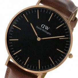 ダニエル ウェリントン クラシック ブラック ダラム/ローズ 40mm メンズ 腕時計 DW00100126