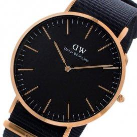 ダニエル ウェリントン クラシック ブラック コーンウォール/ローズ 40mm メンズ 腕時計 DW00100148