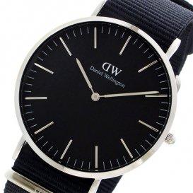 ダニエル ウェリントン クラシック ブラック コーンウォール/シルバー 40mm メンズ 腕時計 DW00100149