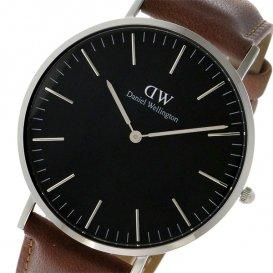 ダニエル ウェリントン クラシック ブラック ダラム/シルバー 40mm メンズ 腕時計 DW00100132