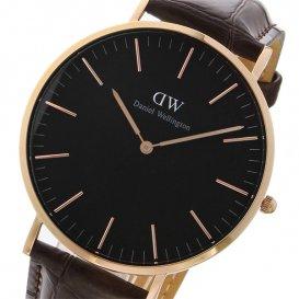 ダニエル ウェリントン クラシック ブラック ヨーク/ローズ 40mm メンズ 腕時計 DW00100128