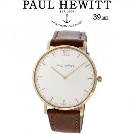 ポールヒューイット Sailor Line 39mm ユニセックス 腕時計 6450976 PHSARSTW1S ホワイト/ブラウン