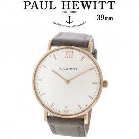 ポールヒューイット Sailor Line 39mm ユニセックス 腕時計 6451712 PHSARSTW13S ホワイト/グレー