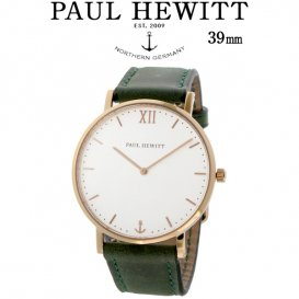 ポールヒューイット Sailor Line 39mm ユニセックス 腕時計 6451708 PHSARSTW12S ホワイト/グリーン