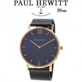 ポールヒューイット Sailor Line 39mm ユニセックス 腕時計 6451056 PHSARSTB5S ブルーラグーン/ブラック