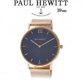 ポールヒューイット Sailor Line 39mm ユニセックス 腕時計 6451052 PHSARSTB4S ブルーラグーン/ローズ