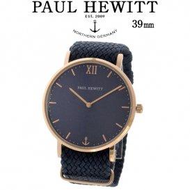 ポールヒューイット Sailor Line 39mm ユニセックス 腕時計 6452231 PHSARSTB17S ブルーラグーン/ネイビー