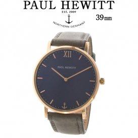 ポールヒューイット Sailor Line 39mm ユニセックス 腕時計 6451724 PHSARSTB13S ブルーラグーン/グレー